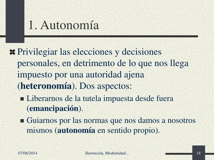1. Autonoma
