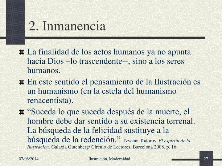 2. Inmanencia