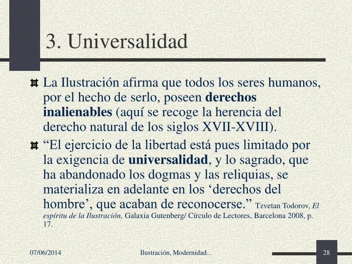 3. Universalidad