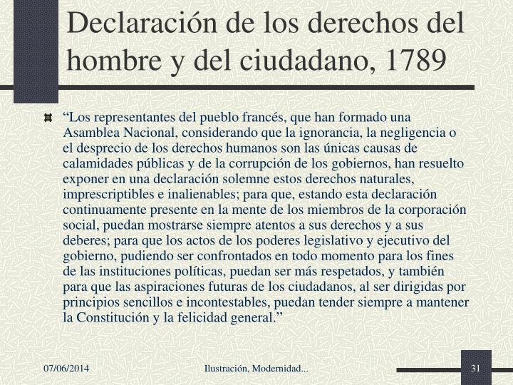 Declaracin de los derechos del hombre y del ciudadano, 1789