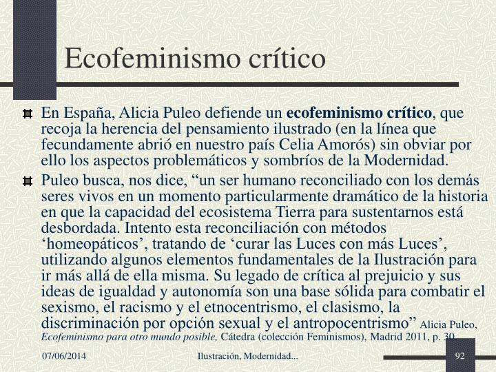 Ecofeminismo crítico