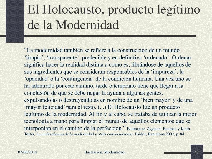 El Holocausto, producto legtimo de la Modernidad