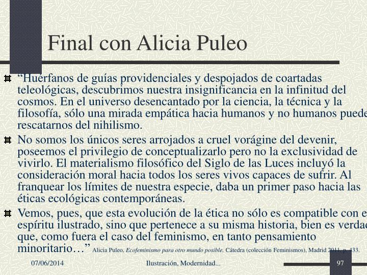 Final con Alicia Puleo