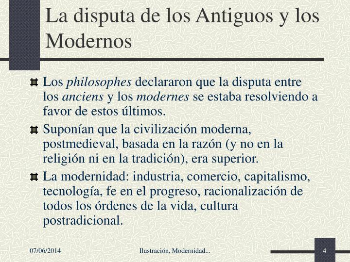 La disputa de los Antiguos y los Modernos