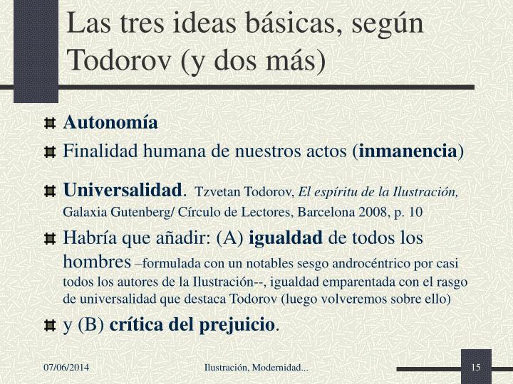 Las tres ideas bsicas, segn Todorov (y dos ms)