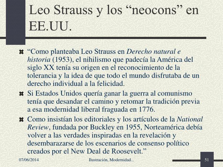 """Leo Strauss y los """"neocons"""" en EE.UU."""