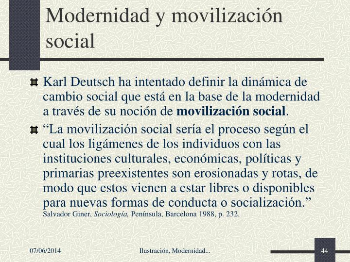 Modernidad y movilizacin social