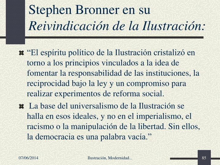 Stephen Bronner en su
