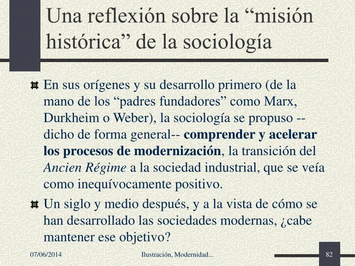 """Una reflexión sobre la """"misión histórica"""" de la sociología"""