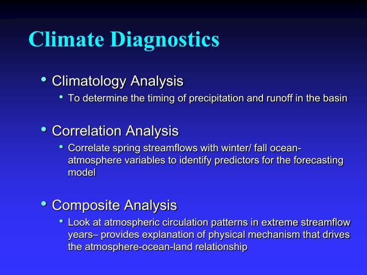 Climate Diagnostics