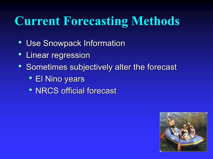 Current Forecasting Methods