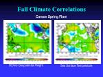 fall climate correlations