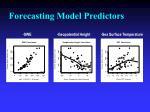 forecasting model predictors