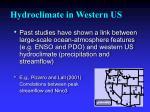 hydroclimate in western us
