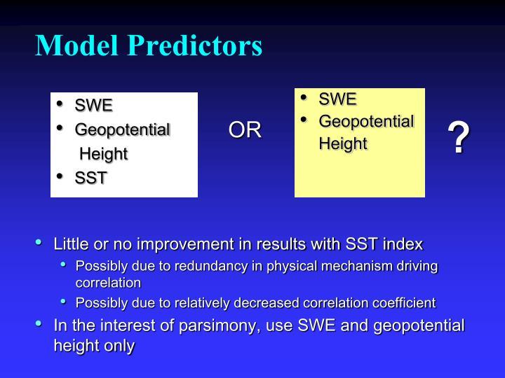 Model Predictors