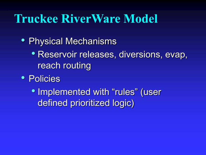 Truckee RiverWare Model
