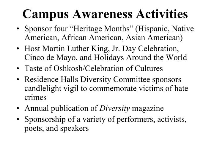 Campus Awareness Activities