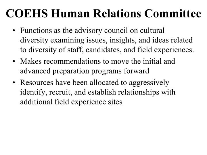 COEHS Human Relations Committee