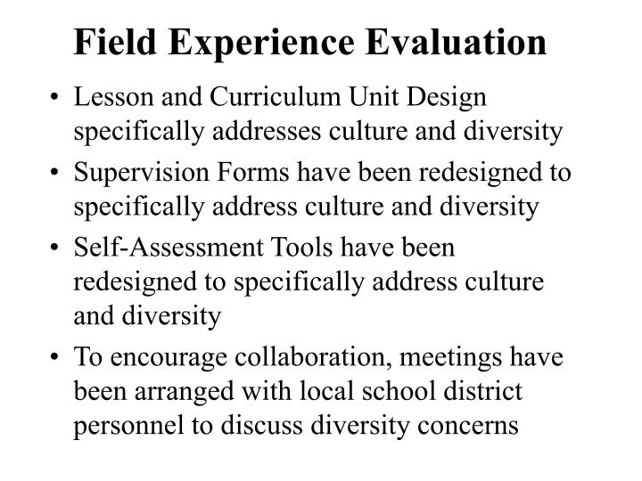 Field Experience Evaluation