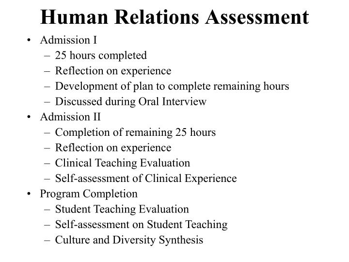 Human Relations Assessment