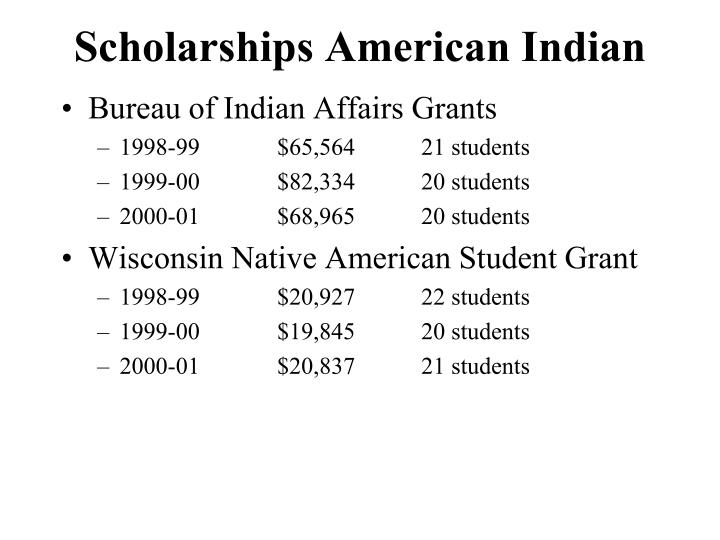 Scholarships American Indian
