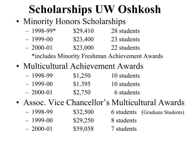 Scholarships UW Oshkosh