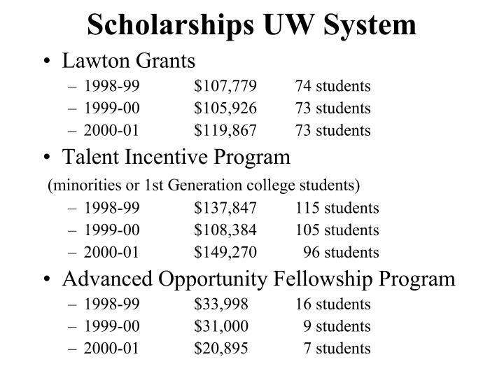 Scholarships UW System