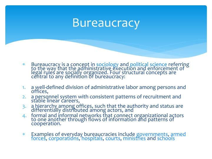 Bureaucracy