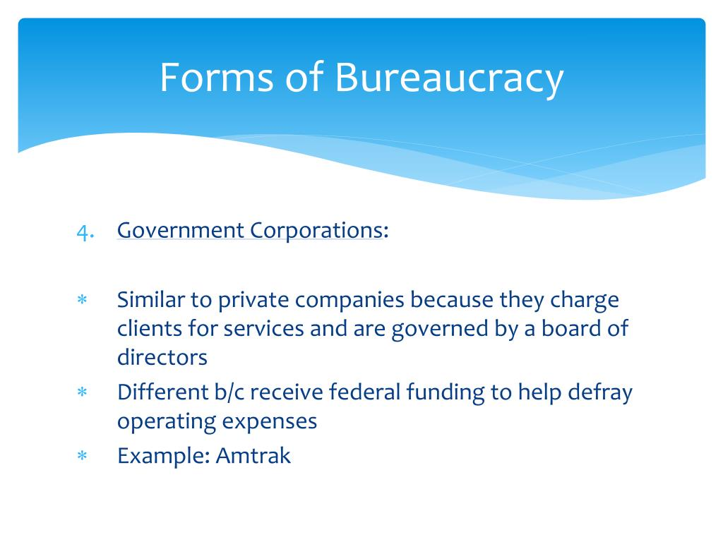 Forms of Bureaucracy
