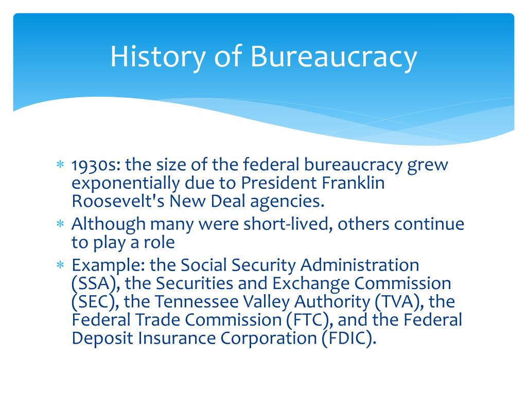 History of Bureaucracy