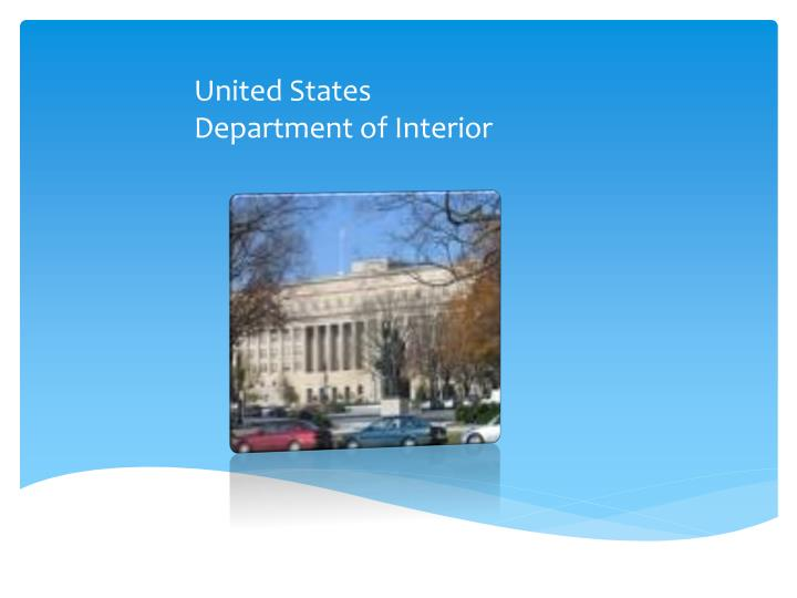 United states department of interior