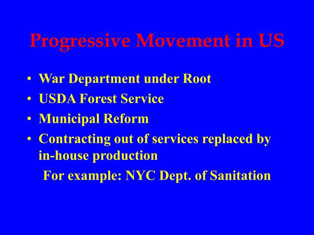 Progressive Movement in US