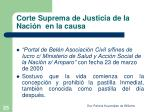 corte suprema de justicia de la naci n en la causa