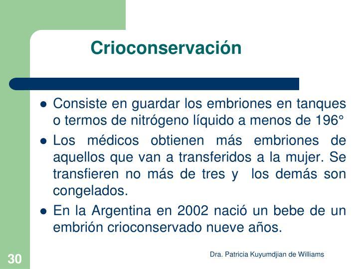 Crioconservación