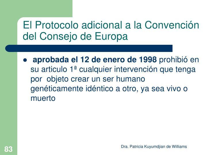 El Protocolo adicional a la Convención del Consejo de Europa