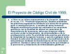 el proyecto de c digo civil de 1999
