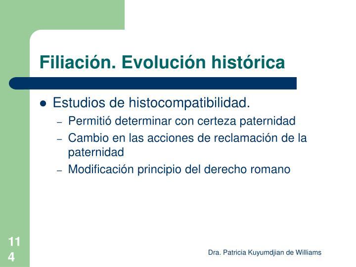 Filiación. Evolución histórica