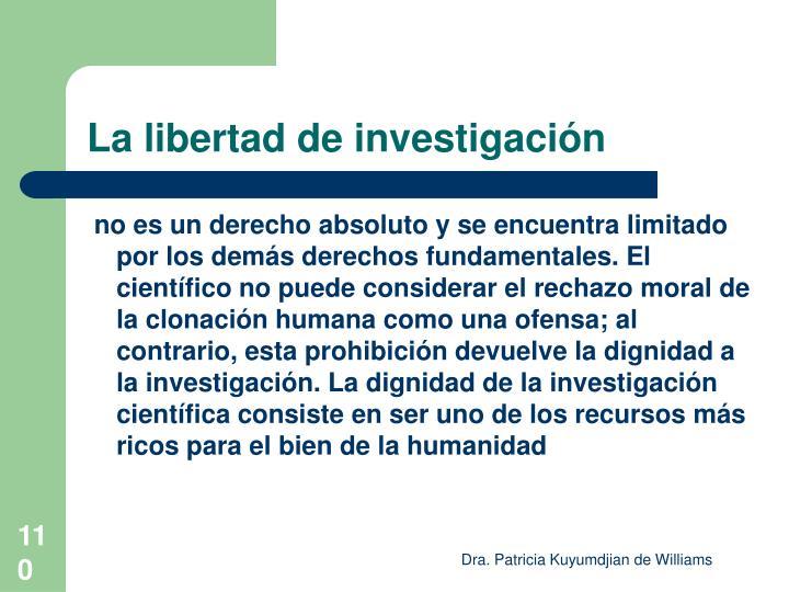La libertad de investigación
