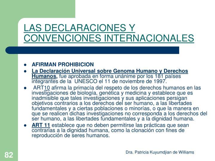 LAS DECLARACIONES Y CONVENCIONES INTERNACIONALES