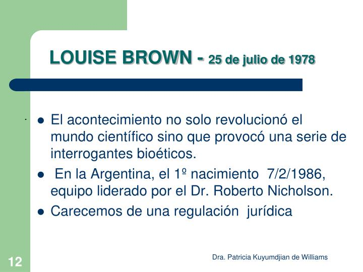 LOUISE BROWN -