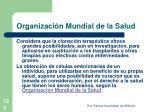 organizaci n mundial de la salud