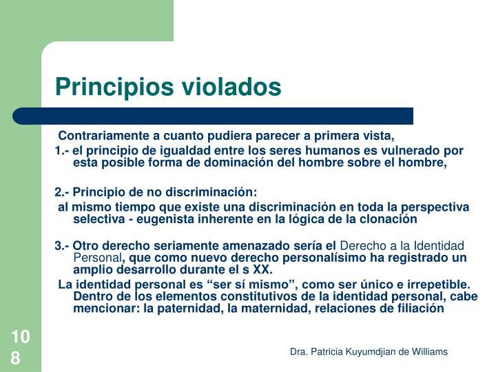 Principios violados
