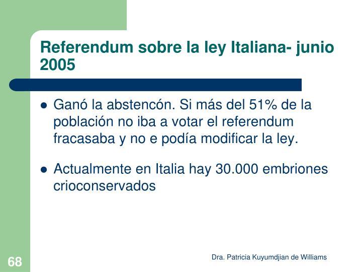 Referendum sobre la ley Italiana- junio 2005