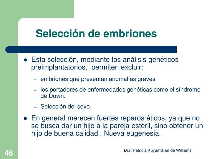 Selección de embriones