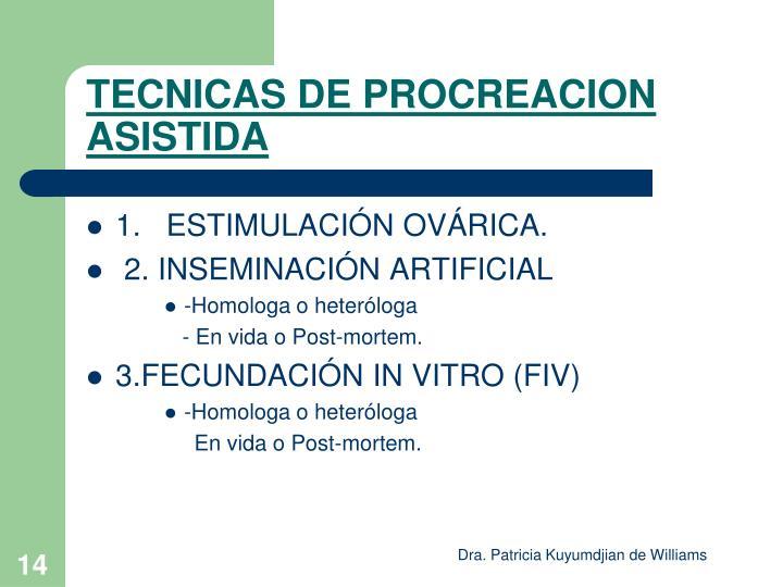 TECNICAS DE PROCREACION ASISTIDA