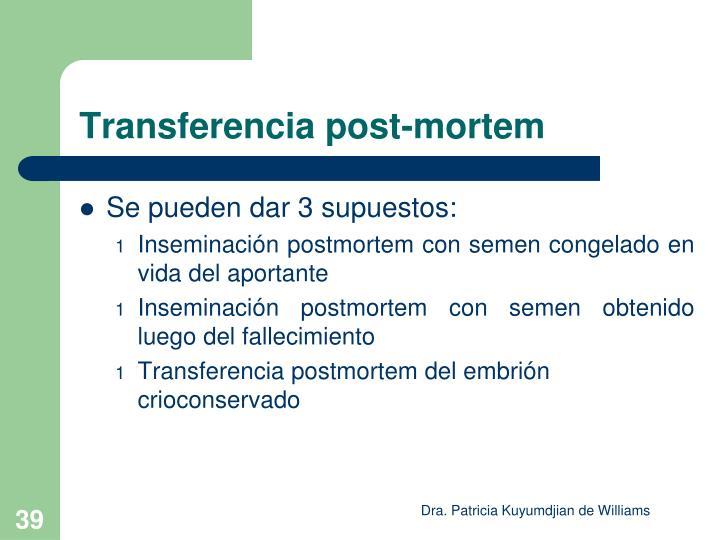 Transferencia post-mortem