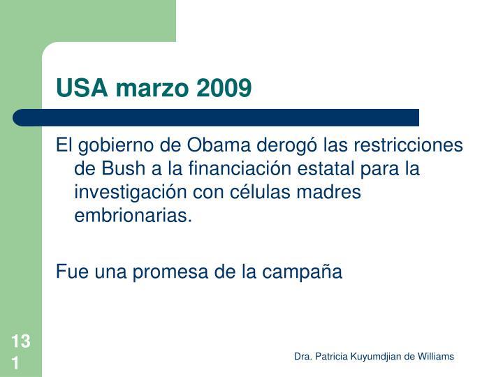 USA marzo 2009
