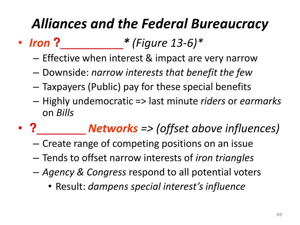 Alliances and the Federal Bureaucracy