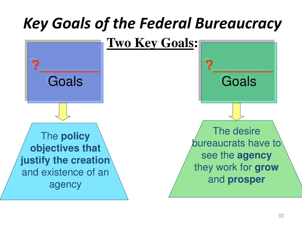 Key Goals of the Federal Bureaucracy