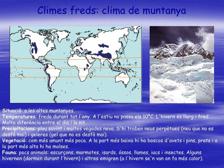 Climes freds: clima de muntanya